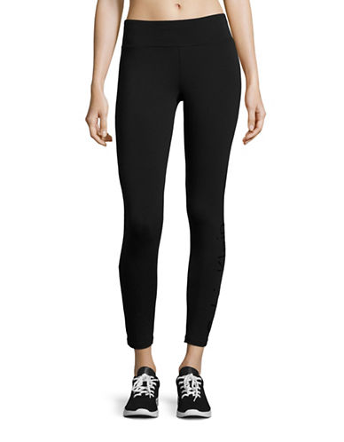 Calvin Klein Performance Quick-Dry Marled Logo Leggings-BLACK-Large 88732319_BLACK_Large