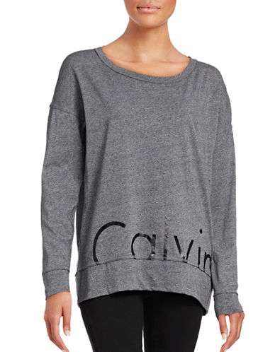 Calvin Klein Performance Long Sleeve Performance Top-BLACK HEATHER-X-Large 88732332_BLACK HEATHER_X-Large
