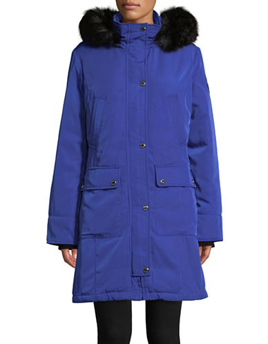 Calvin Klein The Coat Edit Down Anorak with Faux Fur Trim-BLUE-Medium 88594045_BLUE_Medium