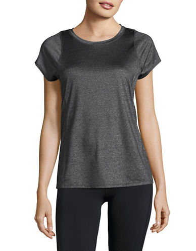 Calvin Klein Performance Marled Quick-Dry T-Shirt-BLACK-X-Small 88987952_BLACK_X-Small