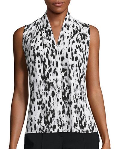 Calvin Klein Sleeveless Animal-Printed Blouse-MULTI-X-Large 88771479_MULTI_X-Large