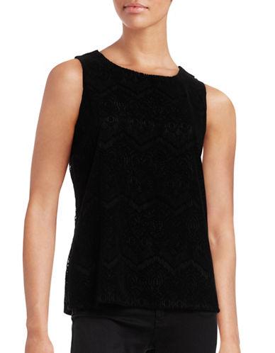 Calvin Klein Felt Crochet Tank-BLACK-Large 88771503_BLACK_Large