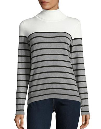 Calvin Klein Striped Turtleneck Pullover-WHITE MULTI-Medium 88703932_WHITE MULTI_Medium