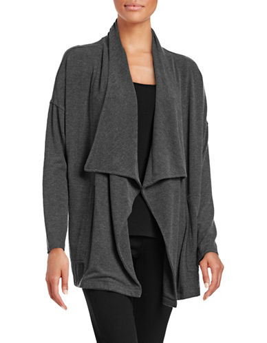 Calvin Klein Performance Performance Open-Front Cardigan-GREY-Medium 88695069_GREY_Medium