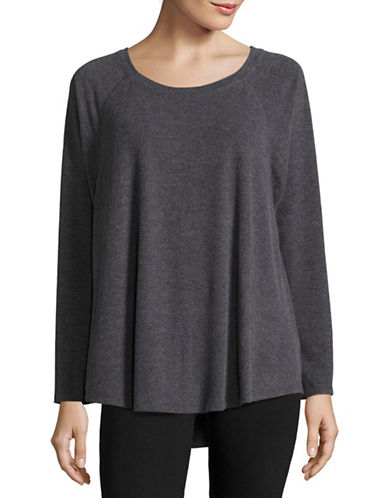 Calvin Klein Performance Long Sleeve Swing Top-GREY-Small 88695125_GREY_Small