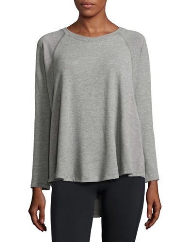 Calvin Klein Performance Rayn Striped Top-GREY-Large 88695115_GREY_Large