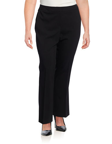 Calvin Klein Plus Wide Leg Pants-BLACK-20W plus size,  plus size fashion plus size appare