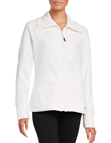 Calvin Klein Performance Full-Zip Fleece Jacket-WHITE-Medium 88695104_WHITE_Medium