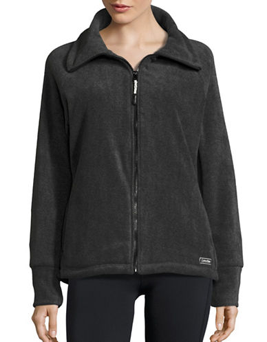 Calvin Klein Performance Full-Zip Fleece Jacket-GREY-Medium 88695092_GREY_Medium