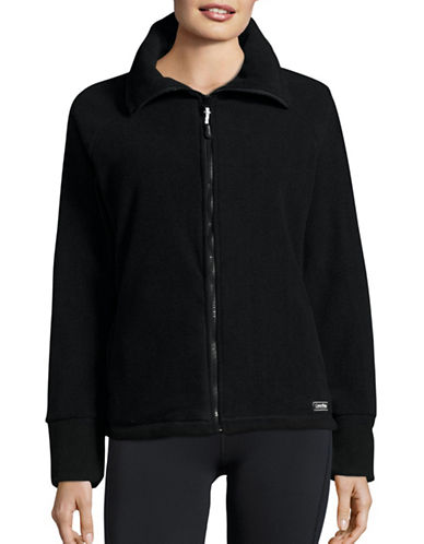 Calvin Klein Performance Full-Zip Fleece Jacket-BLACK-Large 88695087_BLACK_Large