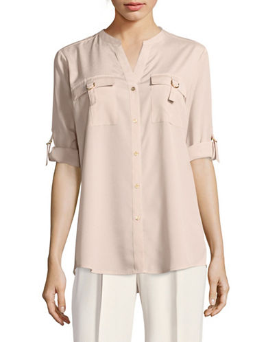 Calvin Klein D-Ring Blouse-PINK-Small