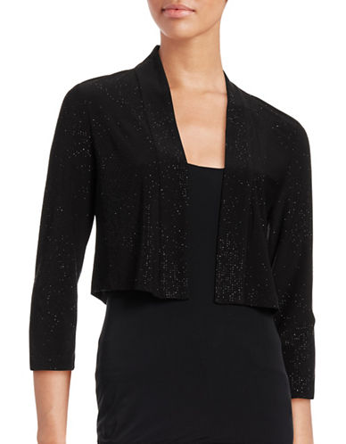 Calvin Klein Sequined Shrug-BLACK-Medium