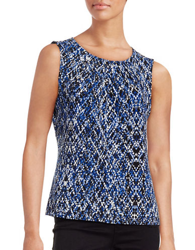 Calvin Klein Printed Sleeveless Top-BLUE-X-Small 88700458_BLUE_X-Small
