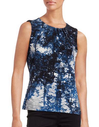 Calvin Klein Printed Sleeveless Top-BLUE-Medium 88700455_BLUE_Medium