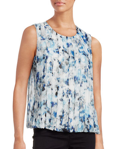 Calvin Klein Gathered Print Sleeveless Top-MULTI-Small 88700540_MULTI_Small