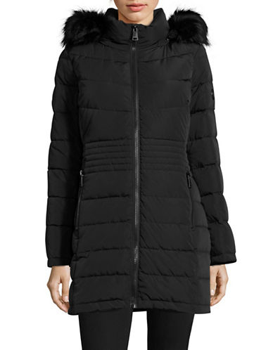 Calvin Klein Down Walker with Faux Fur Trim-BLACK-X-Large 88531143_BLACK_X-Large