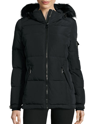 Calvin Klein Quilted Down Parka Coat with Hood-BLACK-X-Large 88531158_BLACK_X-Large