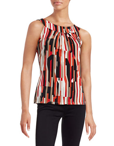 Calvin Klein Printed U-Neck Top-MULTI-Small 88465741_MULTI_Small