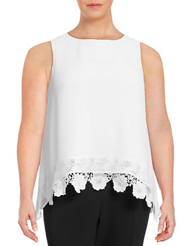 Calvin Klein Plus Embroidered Lace Sleeveless Blouse-WHITE-2X 88582947_WHITE_2X