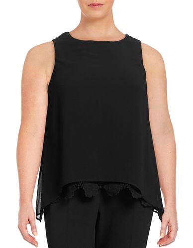 Calvin Klein Plus Embroidered Lace Sleeveless Blouse-BLACK-2X 88582943_BLACK_2X