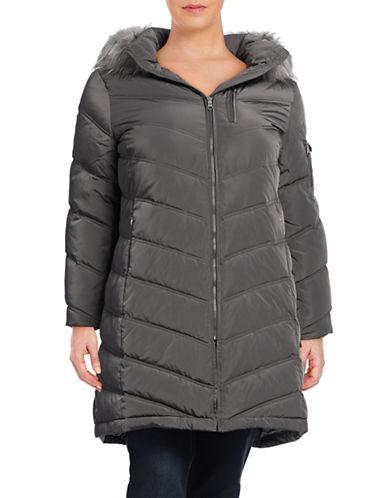 Calvin Klein Plus Chevron Down Walker Coat-GREY-2X 88559284_GREY_2X