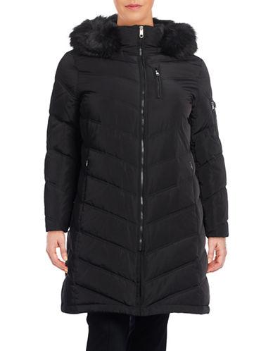 Calvin Klein Plus Chevron Down Walker Coat-BLACK-2X 88559280_BLACK_2X