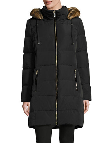 Calvin Klein Down Coat with Faux Fur Trim-BLACK-X-Large 88531133_BLACK_X-Large