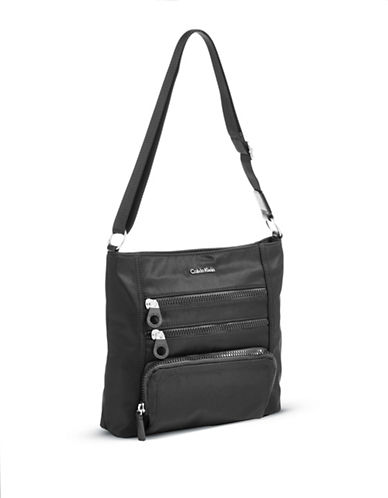 Calvin Klein Nylon Messenger Bag-BLACK-One Size