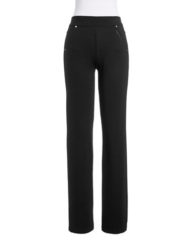 Calvin Klein Performance Ponte Bootleg Pants-BLACK-Small 86480932_BLACK_Small