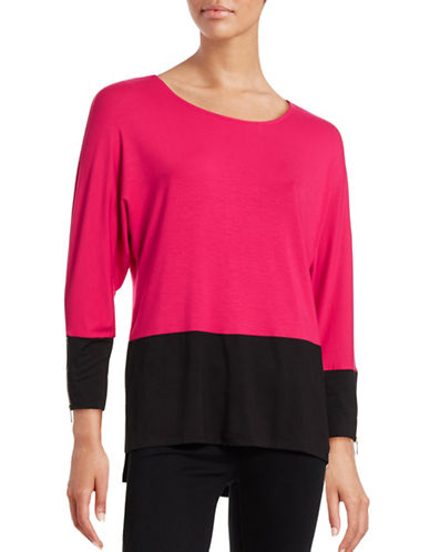 Calvin Klein Colourblock Zip-Cuff Top-PINK-Small 88617123_PINK_Small