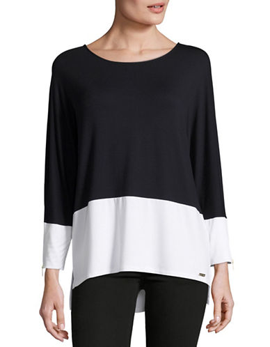 Calvin Klein Colourblock Zip-Cuff Top-BLACK-X-Large 88684902_BLACK_X-Large