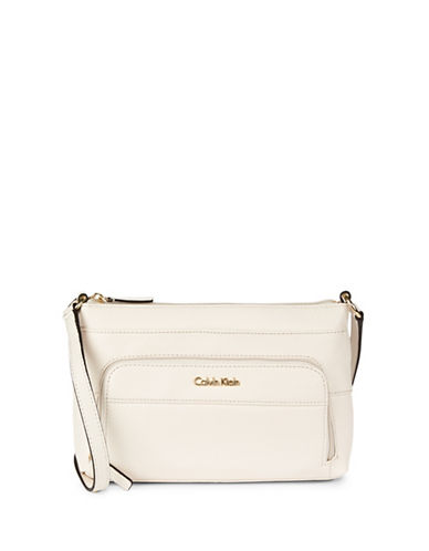 Calvin Klein Key Item Crossbody-WHITE-One Size