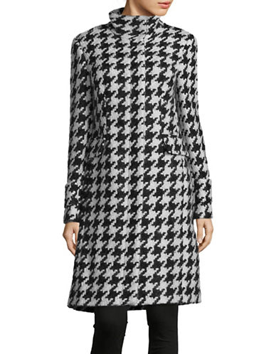 Calvin Klein Houndstooth Print Dress-BLACK/WHITE-16