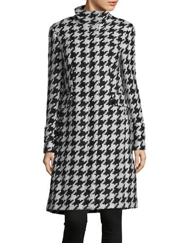 Calvin Klein Houndstooth Print Dress-BLACK/WHITE-6