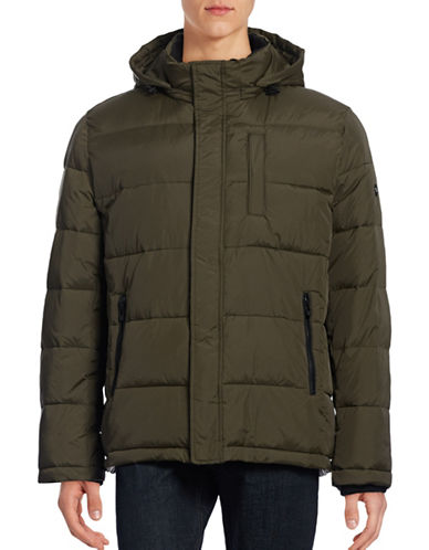 Calvin Klein Quilted Puffer Jacket-GREEN-Medium