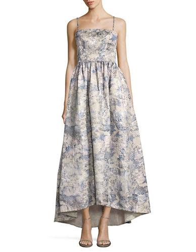 Vera Wang Brocade Hi-Lo Gown-LILAC MULTI-14