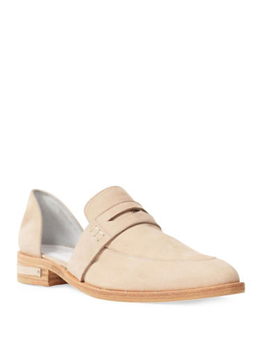 Freda Salvador Kind Leather Penny Loafers-NUDE-10