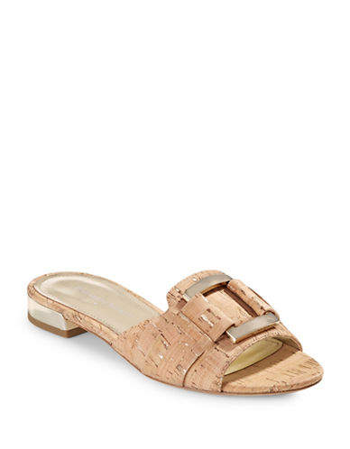 Donald J. Pliner Falta Cork Slides-NATURAL-6.5