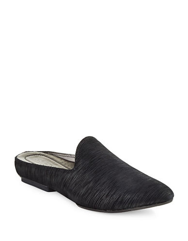 Donald J. Pliner Babuska Leather Mules-BLACK-8.5