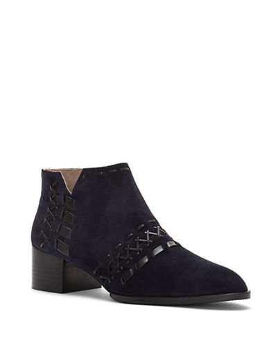 Donald J. Pliner Bowery Short Boots-NAVY-9.5