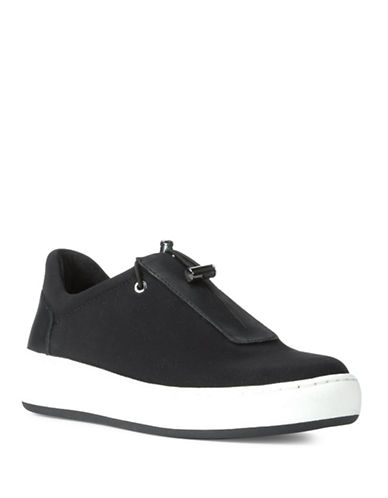 Donald J. Pliner Camo Slip-On Sneakers-BLACK-5.5