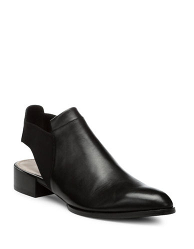 Donald J. Pliner Geenie Leather-Combo Ankle Boots-BLACK-6.5