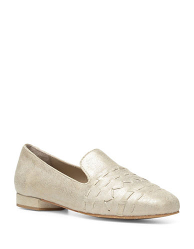 Donald J. Pliner Haylie SP Leather Loafers-BEIGE-8.5