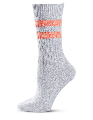 Frye Athletic Stripe Supersoft Boot Socks-ASH-9-11