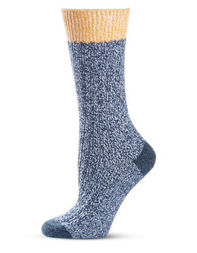 Frye Texture Tipping Supersoft Boot Socks-NAVY-9-11