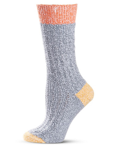 Frye Texture Tipping Supersoft Boot Socks-ASH-9-11
