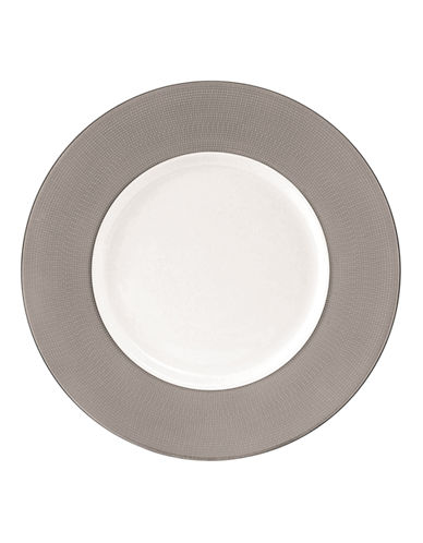 Vera Wang Vera Infinity Accent Salad Plate-WHITE/GREY-One Size