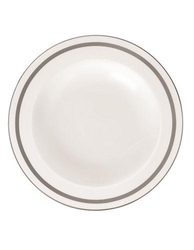 Vera Wang Vera Infinity Rim Soup Plate-WHITE/GREY-One Size