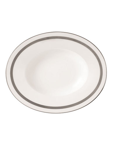 Vera Wang Vera Infinity Oval Open Vegetable-WHITE/PLATINUM-One Size