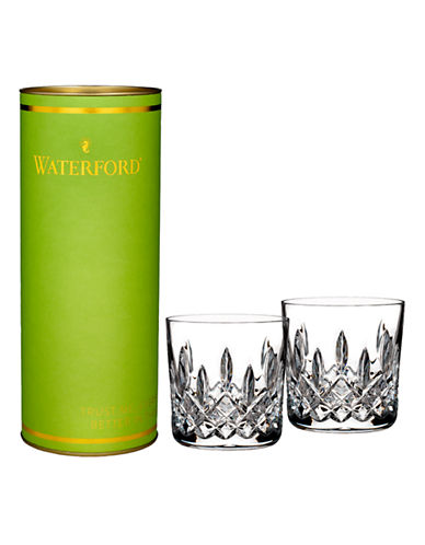 Waterford Wedgwood Giftology Lismore 9oz Double Old Fashion Tumbler Pair-CLEAR-One Size